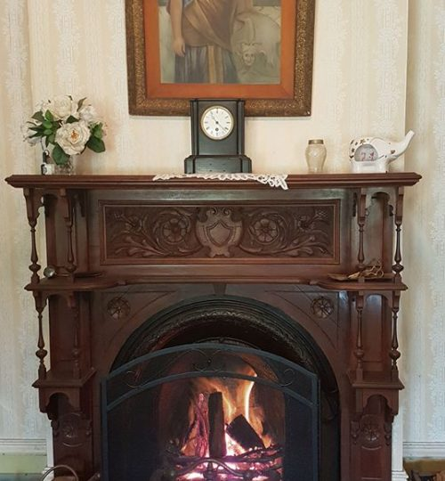One of ten fireplaces